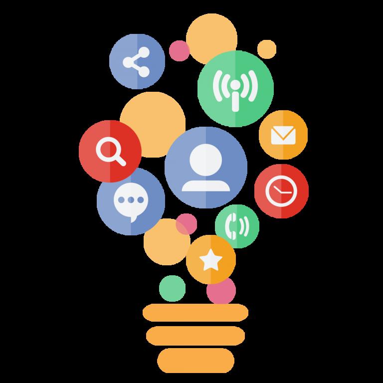 —Pngtree—digital marketing bulb element vector_280327